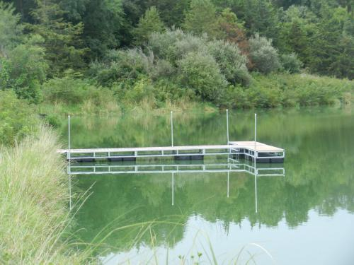 The new dock is situated in an excellent location for bass, crappie, and bluegill fishing. Right off the dock!